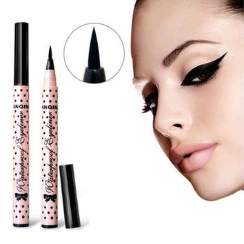 2 Pcs NEW Eyeliner Waterproof Liquid Eye Liner Pencil Pen Make Up Beauty Cosmetics (Color: Black) [8072706247]