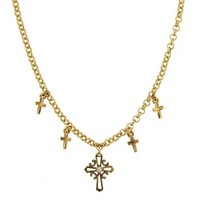 Gold Delicate Inspirations Gold Cross Necklace | P4357 | 1928 pendant necklaces