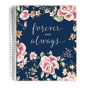 Premium Wedding Planner, Wedding Organizer, Engagement Gift, Always and Forever, 12 organized sections