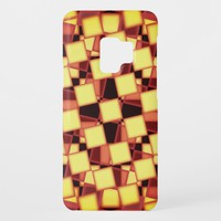 Colorful red and yellow checkered pattern Case-Mate samsung galaxy s9 case