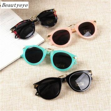 Beautyeye Baby Boys Girls Kids Sunglasses Vintage Round Sun Glasses Children Arrow Glass 100%UV Protection Oculos De Sol Gafas