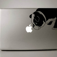 Curtis the English Bulldog Decal Apple Macbook by IvyBee on Etsy