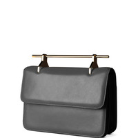 M2Malletier M'O Exclusive: Fabricca Leather Clutch Plomo