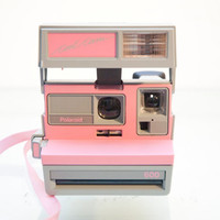 Vintage Pink and Grey Retro 80s Polaroid Cool Cam ZAZZY with CASE Complete