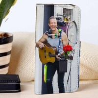 Chris Martin Coldplay | Rock Band | Music | custom wallet case for iphone 4/4s 5 5s 5c 6 6plus case and samsung galaxy s3 s4 s5 s6 case