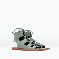 LEATHER ROMAN SANDAL New