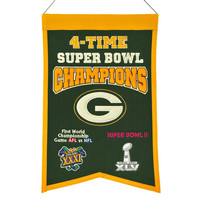 Green Bay Packers Wool Champions Banner