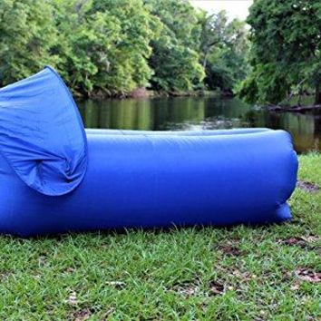 Inflatable Lounger Air Sofa. For Indoor-Outdoor Camping Picnics, Hiking, Backyard, Beach,