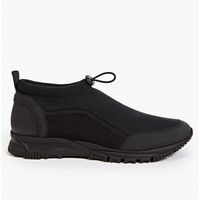 Lanvin Men's Black Neoprene Sock Mid-Top Sneakers