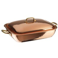 Copper Roasting Pan with Lid