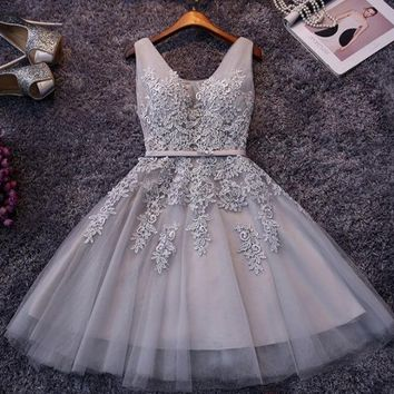 HOT SHINING SEQUINS RHINESTONE VEST DRESS GREY AND PINK