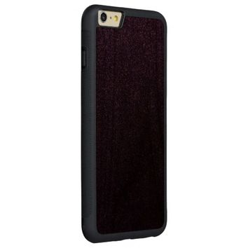 Cool Awesome Purple Glitter Carved® Walnut iPhone 6 Plus Bumper