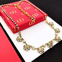 Dior Newest Fashion Women Delicate Pendant Necklace Jewelry Accessories