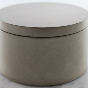 Natural Gray Concrete Salt Cellar. Grey Salt Container. Cement Sugar Bowl. Salt Cellar