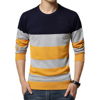 Sweater Men Casual Sweaters Mens O-Neck Knit Warm Pullover masculino sueter Pull homme jersey Plus size 5XL Male Polo Sweater