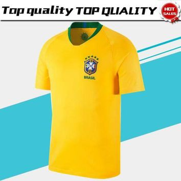2018 world cup Brazil home Soccer Jersey Brasil#10 NEYMAR JR soccer shirt #11 COUTINHO #9 G.JESUS Brazil home yellow Football uniforms sales