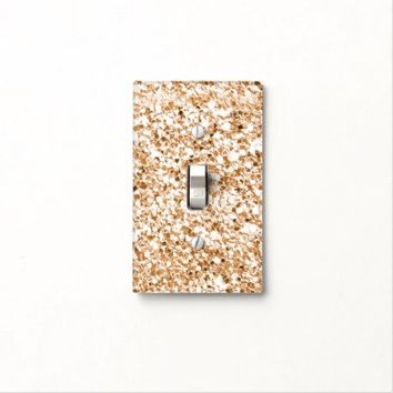 Glitter gold light switch cover