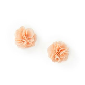 Floral Fabric Studs