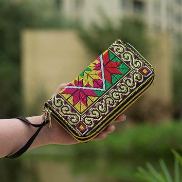 Embroidered bags day clutches New Arrival Women Cotton Handbag Chinese Style Flower Printing Women's Casual Wallet Bags