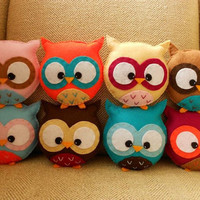 Custom Mini Plush Owl Toy