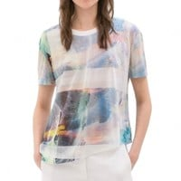 Flimsy Outer Space Print Tee - OASAP.com