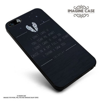 coldplay sky lyric case cover for iphone, ipod, ipad and galaxy series