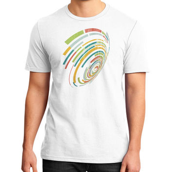Abstract circle geometric District T-Shirt (on man)