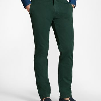 Garment-Dyed Stretch Chinos - Brooks Brothers