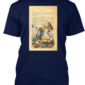 Alice in Wonderland with Playing Cards Tee Shirt