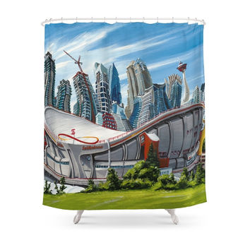 Society6 Downtown Calgary Skyline Shower Curtain