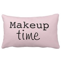 makeup time throw pillow
