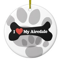 I Love My Airedale - Dog Bone