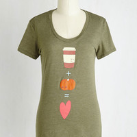 Food Mid-length Short Sleeves From the Autumn of My Heart Tee