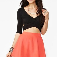 Silk Circle Skirt - Neon Coral in  Clothes Bottoms Skirts at Nasty Gal