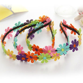 Mini Flowers Hairbands Garland Flower Hairband ForGirls Flower Crown Hair BandHU