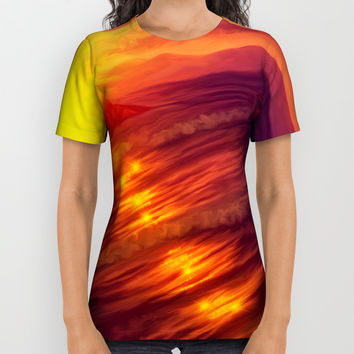 Purple sunset on Ardor planet All Over Print Shirt by exobiology