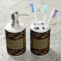 Vintage, African Royalty Abstract Design Bathroom Set