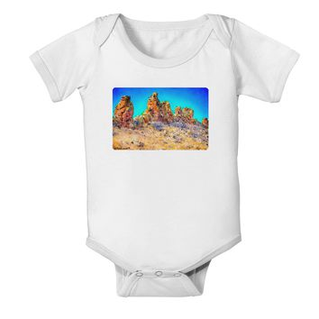 Crags in Colorado Watercolor Baby Romper Bodysuit by TooLoud