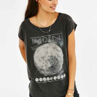 Chaser Full Moon Washed Tee- Black