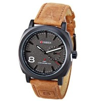 jeansian Men's Genuine Leather Waterproof Quartz Male Wrist Watch ZWC056