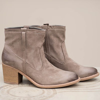 It's A Shopping Day Suede Booties