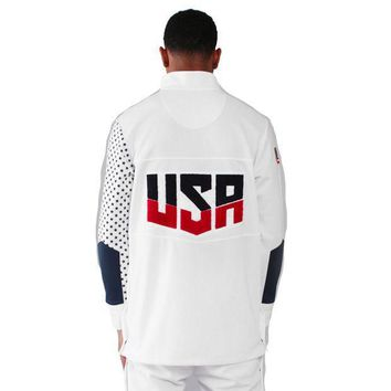 Entree Olympic Warm-up Jacket In White - Beauty Ticks