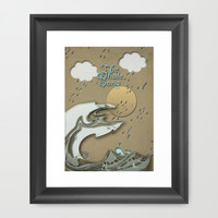 The Whale Song Framed Art Print by Pascal Deckarm