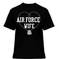 Air Force Wife: Dog Tags: Custom Misses Relaxed Fit Gildan Ultra Cotton T-Shirt