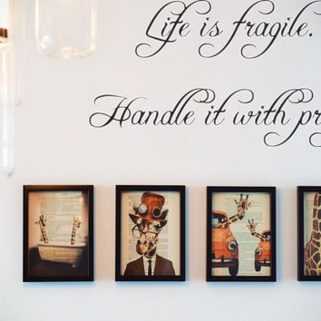 Life is fragile. Handle it with prayer Style 04 Vinyl Decal Sticker Removable