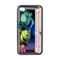 Monster Inc V3 iPhone 4 / iPhone 4s Black Designer Shell Hard Case Cover Protector Gift Idea