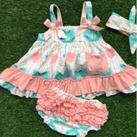 In Stock- Mint and peach arrow Swing top set