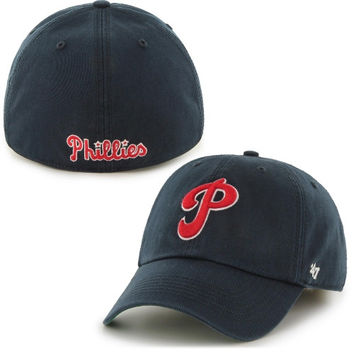 Philadelphia Phillies '47 Brand Franchise Coppoerstown Collection Fitted Hat - Navy Blue