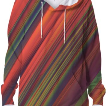 Red Rain Hoodie created by Lyle58 | Print All Over Me