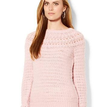 Lauren Ralph Lauren Pointelle Crewneck Sweater